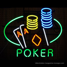 Poker Table and Chips Led Neon Sign