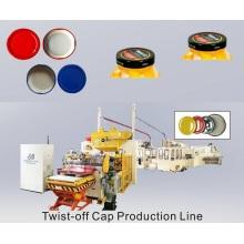 Linha de fabricação de tampa de frasco de vidro com tampa giratória