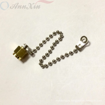 Gold Plated SMA Male Dust waterproof Cap With Chain