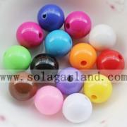 Berbagai Ukuran Buram Acrylic Longgar Spacer Beads Untuk Membuat Perhiasan