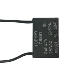 Вентилятор черный Кондиционер конденсатор Cbb61 2UF 250ВАС