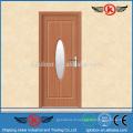 JK-P9084 Verre trempé PVC Porte simple en bois