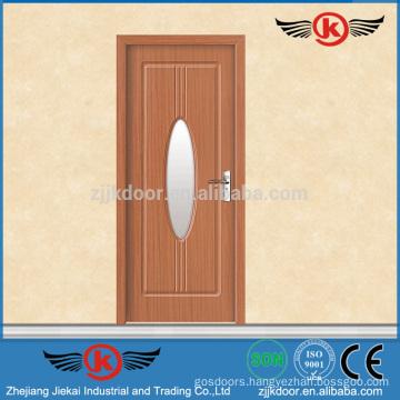 JK-P9084 PVC Tempered Glass Simple Wood Door