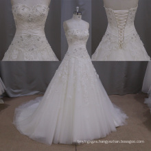 Sweetheart Beading Bandage Long Train Bridal Dress