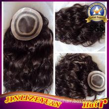 Virgin Remy Human Hair Toupee for Women