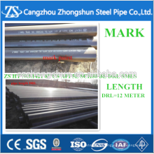 API 5L ASTM A 53 GR.B paint black with cap seamless steel pipe