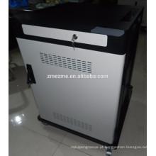 Estação de carregamento do telemóvel do cacifo da segurança de ZMEZME que carrega o carro da segurança para ipads