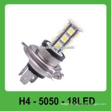 H4 18 pcs 5050 SMD 12V auto led head light