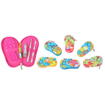 Slipper Shape PU Case Maniküre Pediküre Set