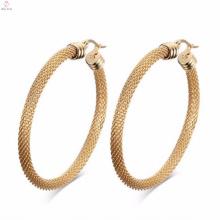 Importação fina redonda da jóia dos brincos do ouro de Rosa da importação da China