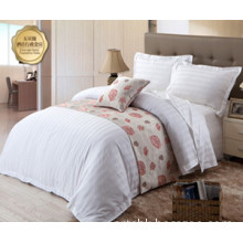 100% Cotton Hotel Bedding Set with 3cm Satin Stripe