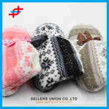 2015 Winter Indoor Warm Children snow pattern fashion soft half boots