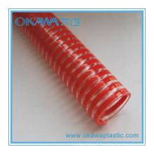 Fournir un tuyau transparent d'aspiration en PVC pour l'irrigation agricole