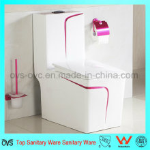 Cuarto de baño Ceramic Rose Red One-Piece Toilet