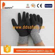 Guantes de seguridad para revestimiento de látex con espuma de protección contra cortes -Dcr430