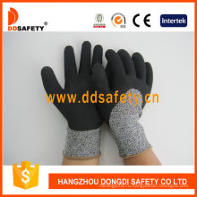 Отрежьте Перчатку Сопротивления Латексной Пены Покрытием Защитные Перчатки Dcr430
