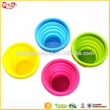 Fashion Camping Tools Non Stick Silicone Collapsible Cups