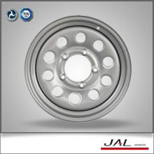 Silver Color 5.5x15 Roues d'acier Roues automatiques Roues