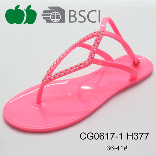 fashion designed jelly sandals