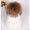 Custom novo design mão malha chapéu com POM