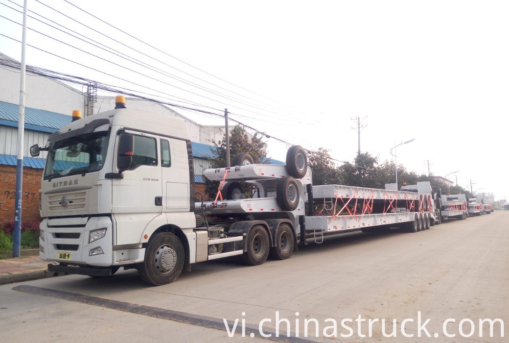 Low bed semi-trailer export to Africa