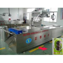 Fish Fillet& Ham Slices Row Automatic Thermoforming Vacuum Packing Machine