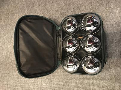 Six Balls Boule Set In Nylon Bag