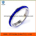 Shineme Jewelry Blue Stones Stainless Steel Finger Ring (CZR2577)