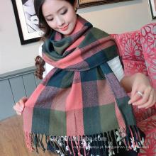 2015 inverno novo estilo britânico sub imitação lã caxemira cachecol lenço xale quente tippet xaile