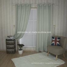 Tissu de rideau de fenêtre à carreaux de drap moderne