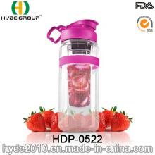 Botella grande de la infusión de la fruta de Trio 32oz, botella de agua plástica modificada para requisitos particulares (HDP-0522)