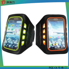 cas de téléphone de brassard rechargeable de LED de sport de porte avec Ce / RoHS