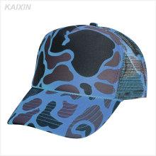 boné de beisebol camo azul personalizado chapéu de camionista de malha em branco corda clássico