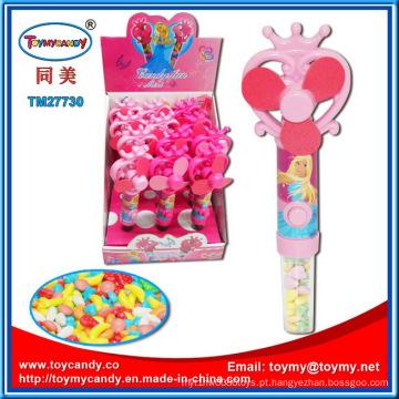 Doces do brinquedo engraçado quente Mini ventilador com bateria para crianças
