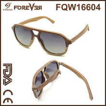 2016 New Design Wholesale Sales of High Quality Wood UV 400ce Laminated Wooden Sunglasses