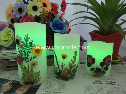 dry flower decoration flameless lED candle