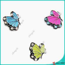 Charme de glisseur de papillon d'alliage de zinc de mode en métal en métal (JP08)