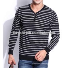 Suéter hecho punto 2014 de la cachemira de la raya de la moda del invierno