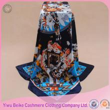 Usine directement vente échantillon gratuit indien design twill foulard en satin de soie impression personnalisée