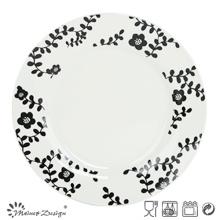 27cm de porcelana blanca con placa de cena de hierba de etiqueta