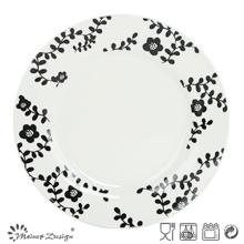 Porcelaine blanche 27cm avec plaque de décalcomanie