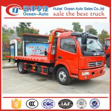 La venta más caliente de DFAC 3800mm wheelbase wrecker que puede transportar dos coches con un camión