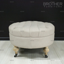 Home upholstery fabric storage seat / sex furniture ottoman stool