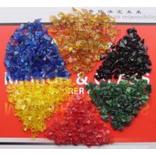 Chips de Vidro Colorido Esmagado