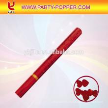 Wedding Party Popper con papel metálico Corazón rojo