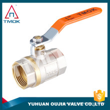 Factory Stock brass ball valve price TMOK Brand Size 1/2'' to 1'' BSP Thread Iron handles with pvc credit insurance support