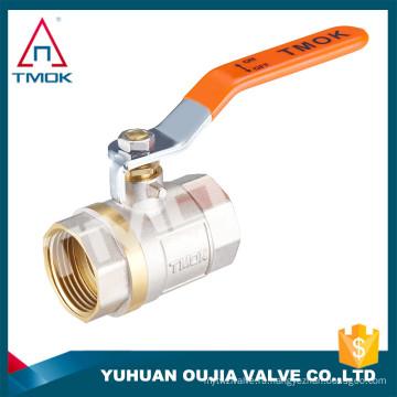 """Фабрика шток латунный шаровой клапан цена TMOK размер 1/2"""" до 1"""" BSP резьба железными ручками с ПВХ кредитное страхование поддерживает"""