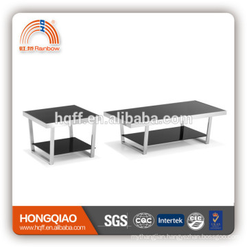 CT-07 ET-07 stainless steel glass modern coffee table
