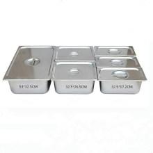 El tamaño opcional Gastronorm GN del acero inoxidable sartenes cacerola de la comida para la escuela