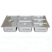 Optional Size Stainless Steel Gastronorm GN Pans Food Pan For School